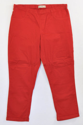 Pick 'n Pay Red Cuffed Jegging Style Pants Women Size M