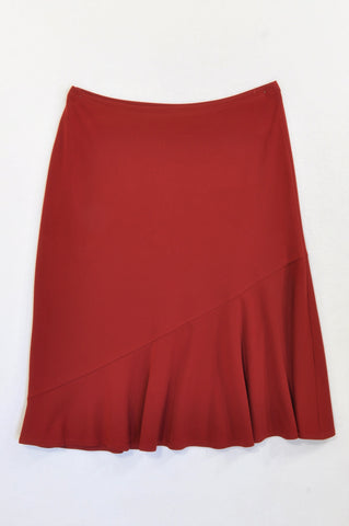 Woolworths Wine Red Flowy Skirt Women Size 6