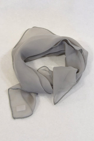 Unbranded Grey Sheer Neck Scarf Women One Size