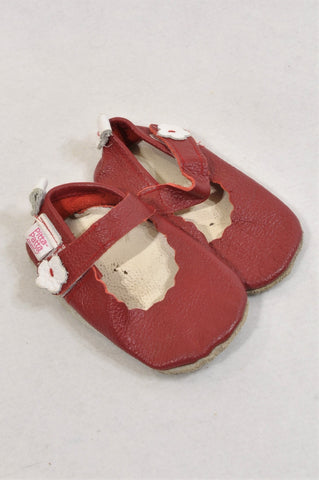 Pitta-Patta Size 5 Red Leather Mary Jane Shoes Girls 18-24 months