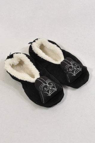 Star Wars Size 8 Black Darth Vader Fleece Lined Slippers Boys 2-3 years