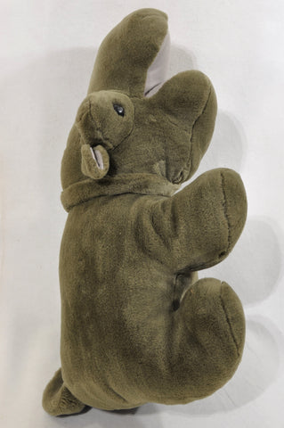Unbranded Brown Furry Hippo Soft Toy Unisex 1-10 years
