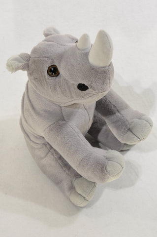 Animal Planet Grey Rhino Soft Toy Unisex 1-10 years