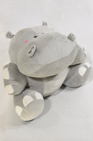 Unbranded Grey Wide Hippo Soft Toy Unisex 1-10 years
