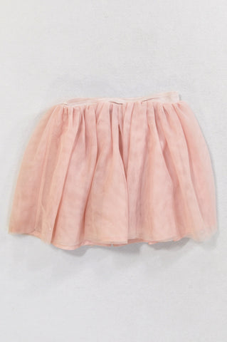 H&M Dusty Pink Puffy Tulle Skirt Girls 2-4 years