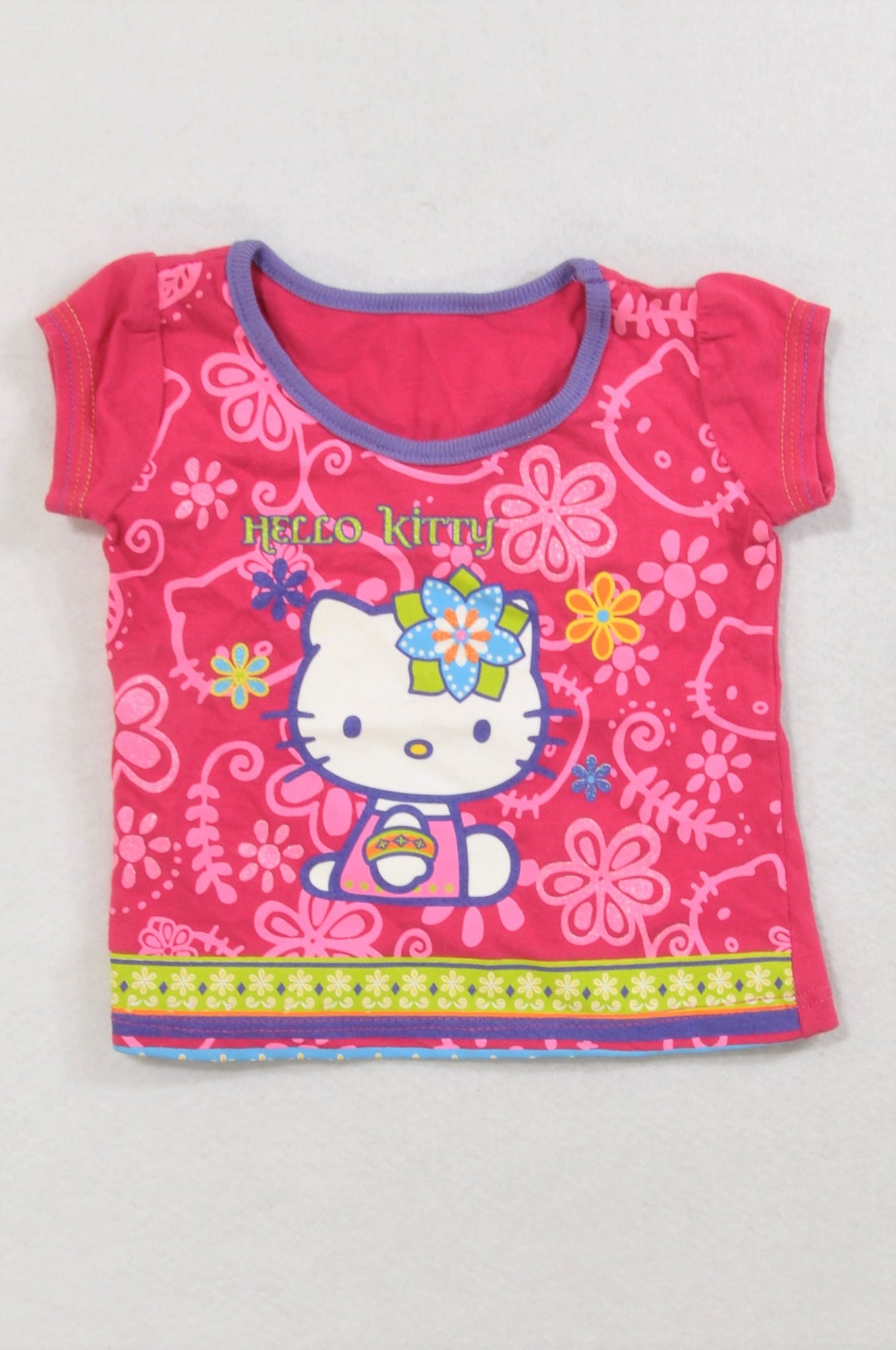 Woolworths Cerise Hello Kitty T-shirt Girls 0-3 months