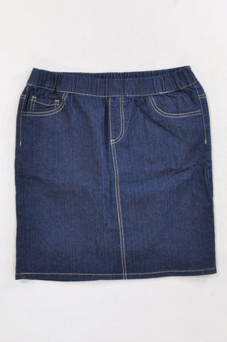 New Woolworths Dark Denim Pencil Skirt Girls 15-16 years