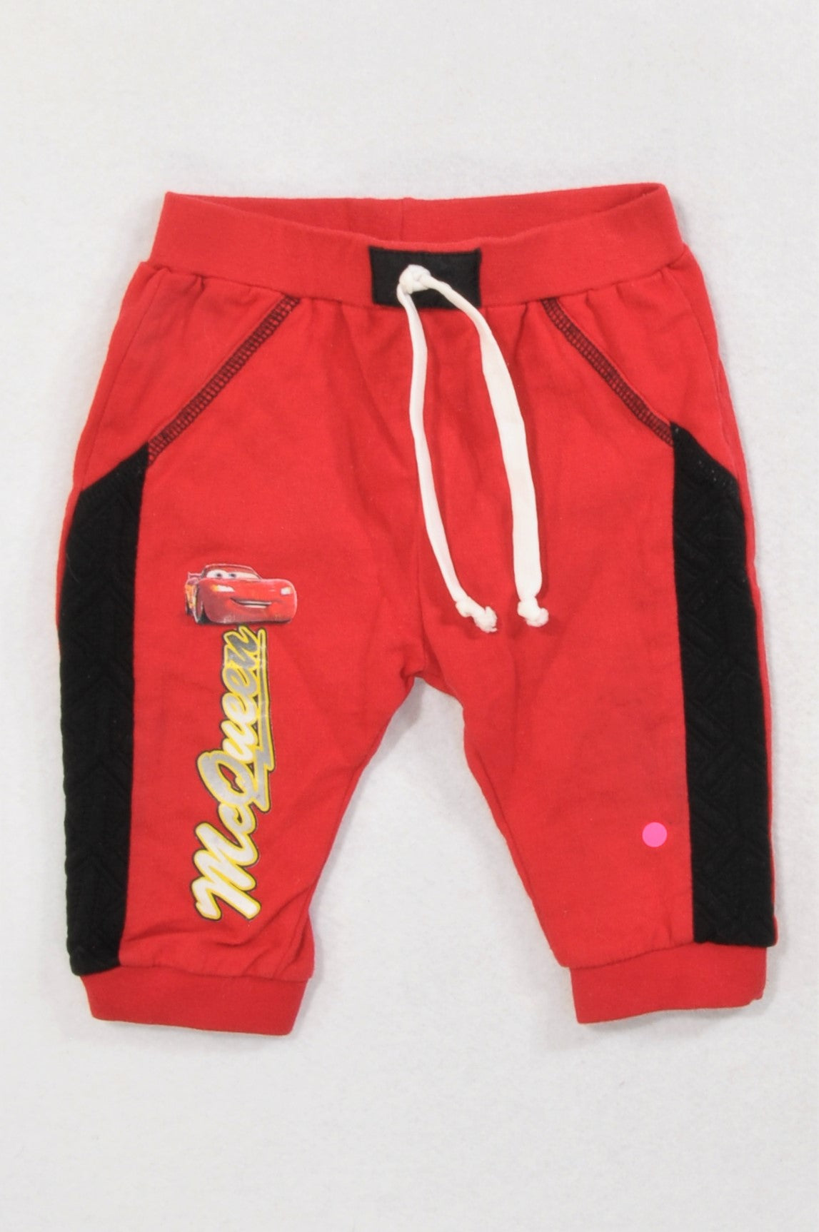 Edgars Red Cars Black Detail Track Pants Boys 6-9 months