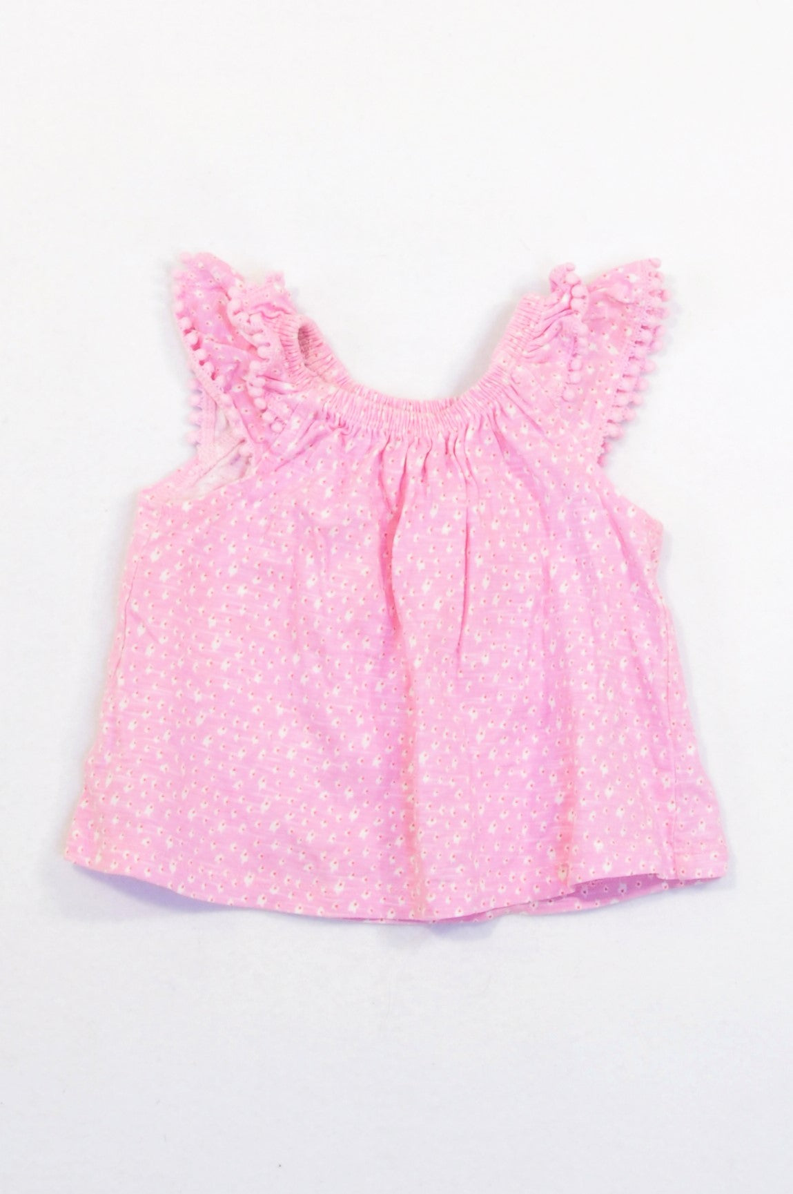 Woolworths Pink Bauble Trim Layered Sleeve T-shirt Girls 3-6 months