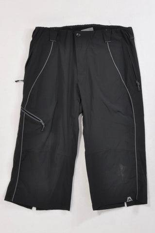 Altura Grey Trim Black Baggy Three-quarter Sportswear Pants Women Size 14