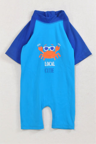 Clicks Blue Crab Local Cutie Swim Suit Unisex 12-18 months