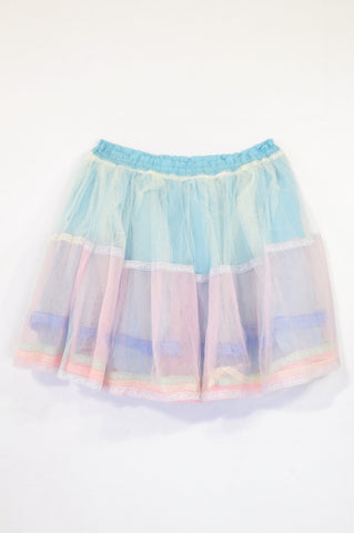 Unbranded Blue & Pink Netting Puffy TuTu Skirt Girls 14-16 years