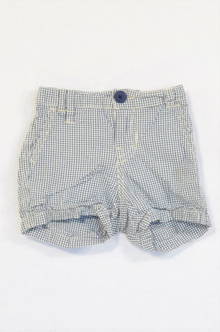 Country Road Navy Check Shorts Unisex 3-6 months