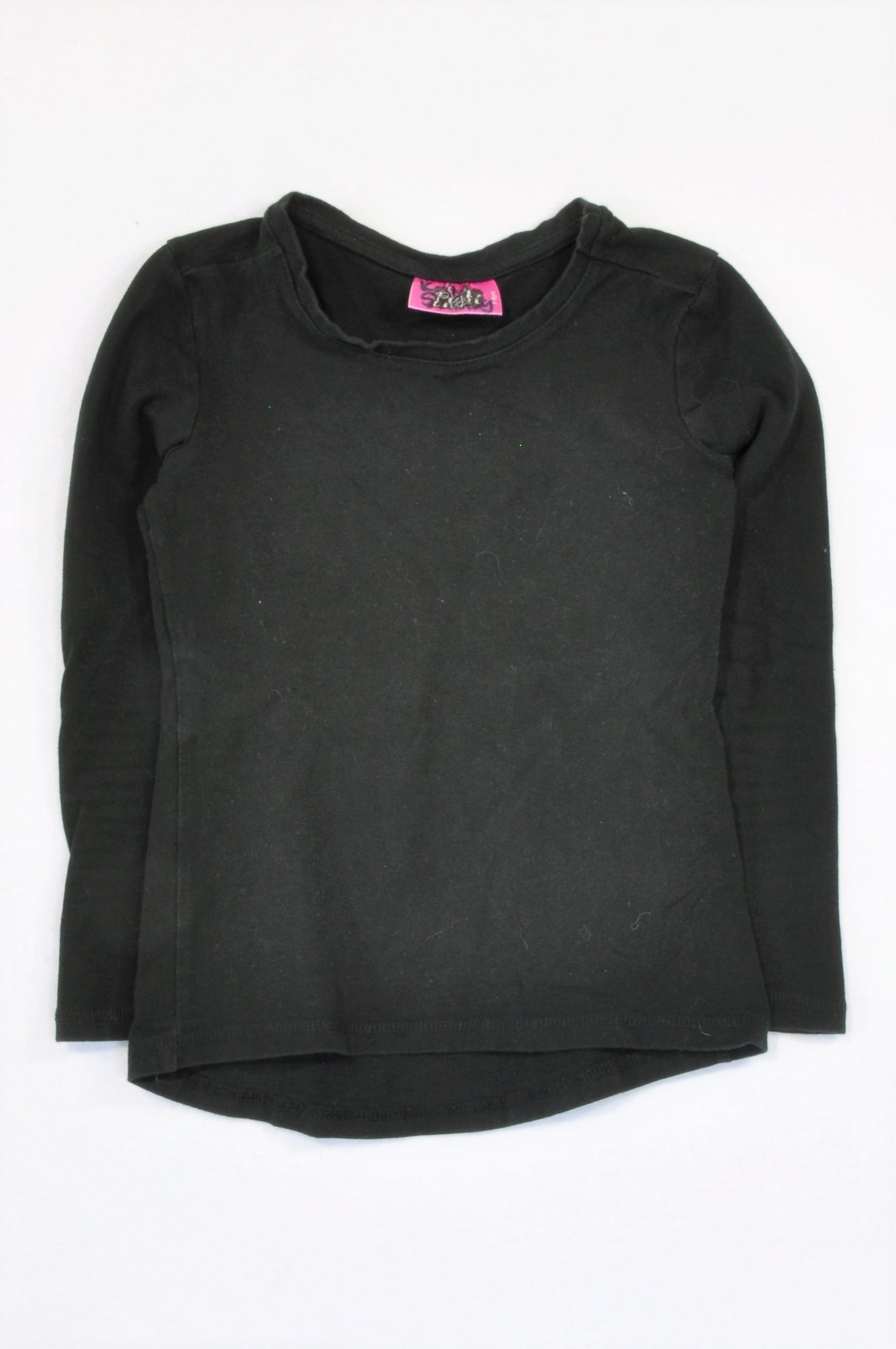Pink Angel Basic Black T-shirt Girls 7-8 years