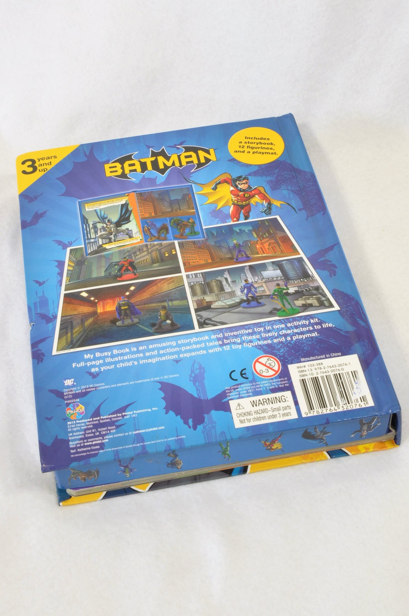 My Busy Books Blue Batman Figurine Playmat Book Unisex 3-10 years