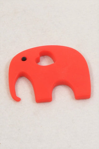 Unbranded Small Red Heart Elephant Teething Toy Unisex N-B to 2 years