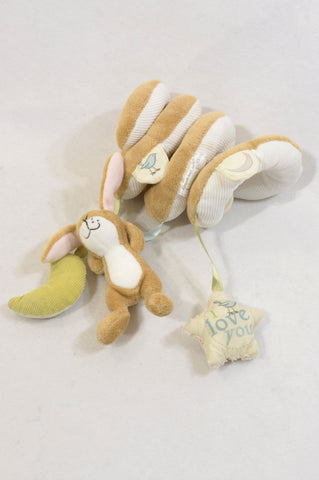 Unbranded Beige Squigly Taglet Soft Toy Unisex N-B to 2 years