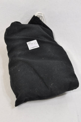 Little Mico Basic Black Swaddle Wrap Unisex N-B to 1 year