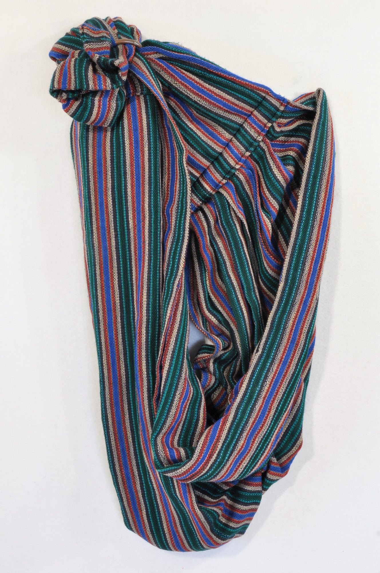 Unbranded Multi Colour Textured Stripe Copper Ring Sling Unisex N-B to 1 year