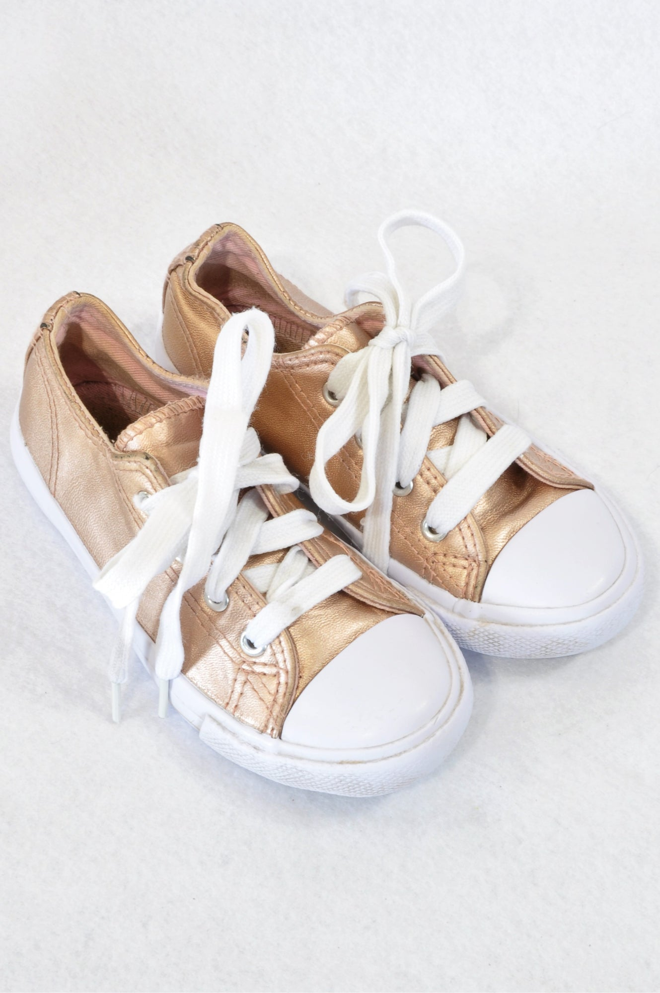 Woolworths Size 8 Rose Gold Lace Shoes Girls 2-3 years