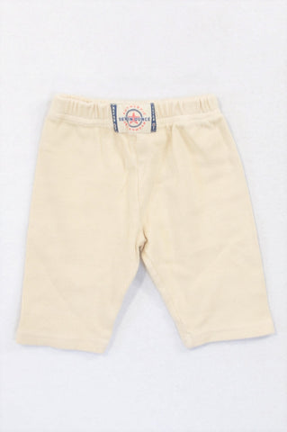 7 Ounce Beige Ribbed Pants Unisex 0-3 months