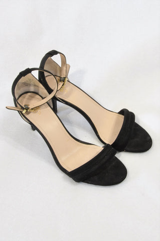 H&M Black Ankle Strap Heel Shoes Women Size 4