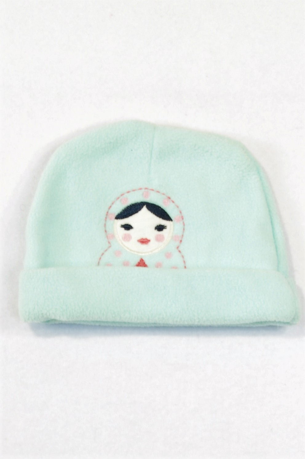 Woolworths Aqua Russian Doll Fleece Beanie Girls 0-3 months