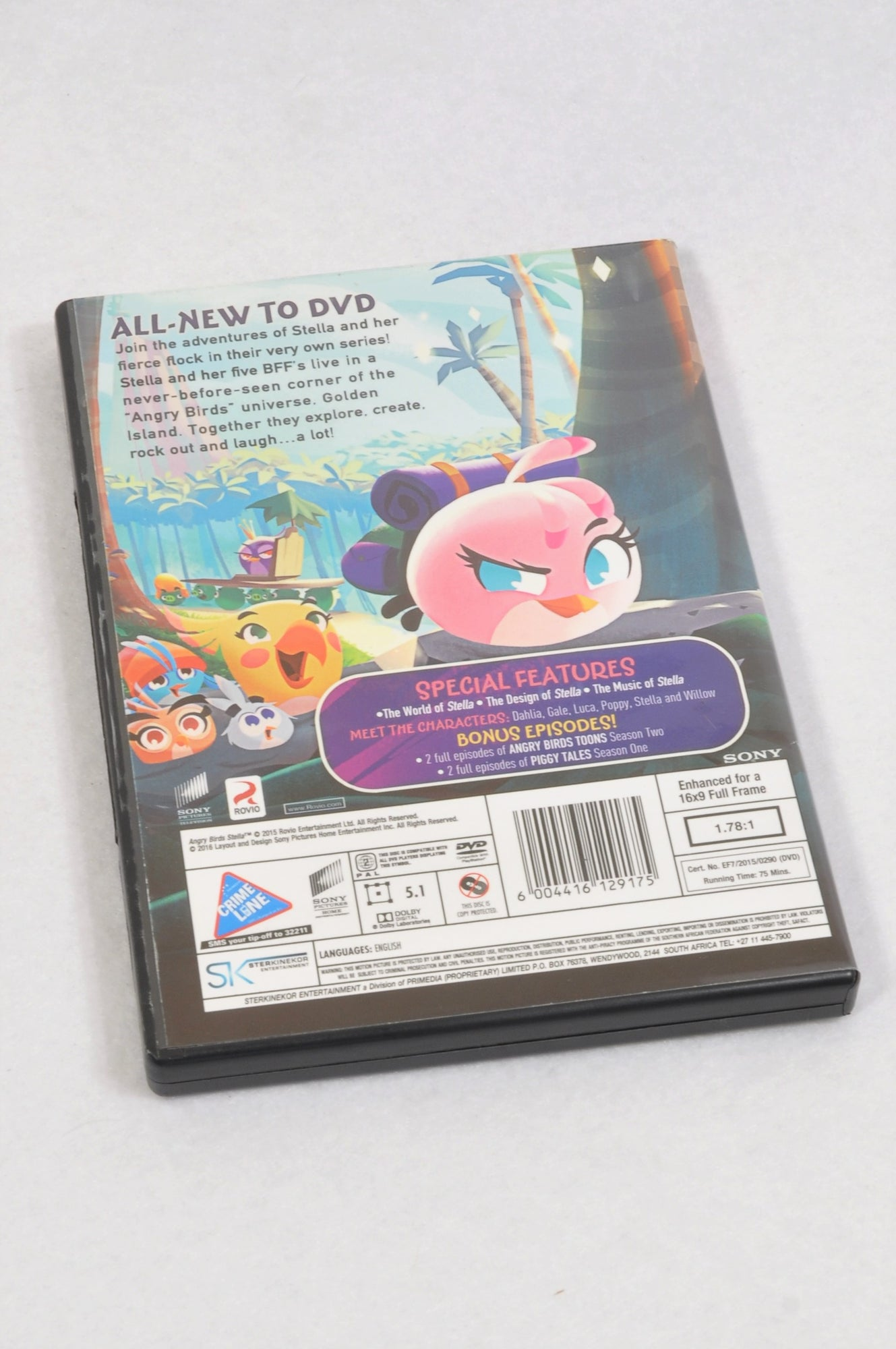 Unbranded Angry Birds Stella Kids DVD Girls 3-10 years
