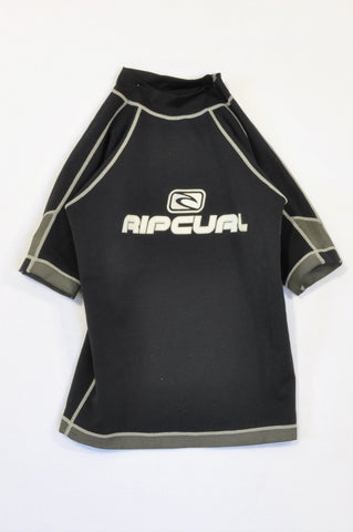 Ripcurl Black & Grey Rash Vest Boys 11-12 years