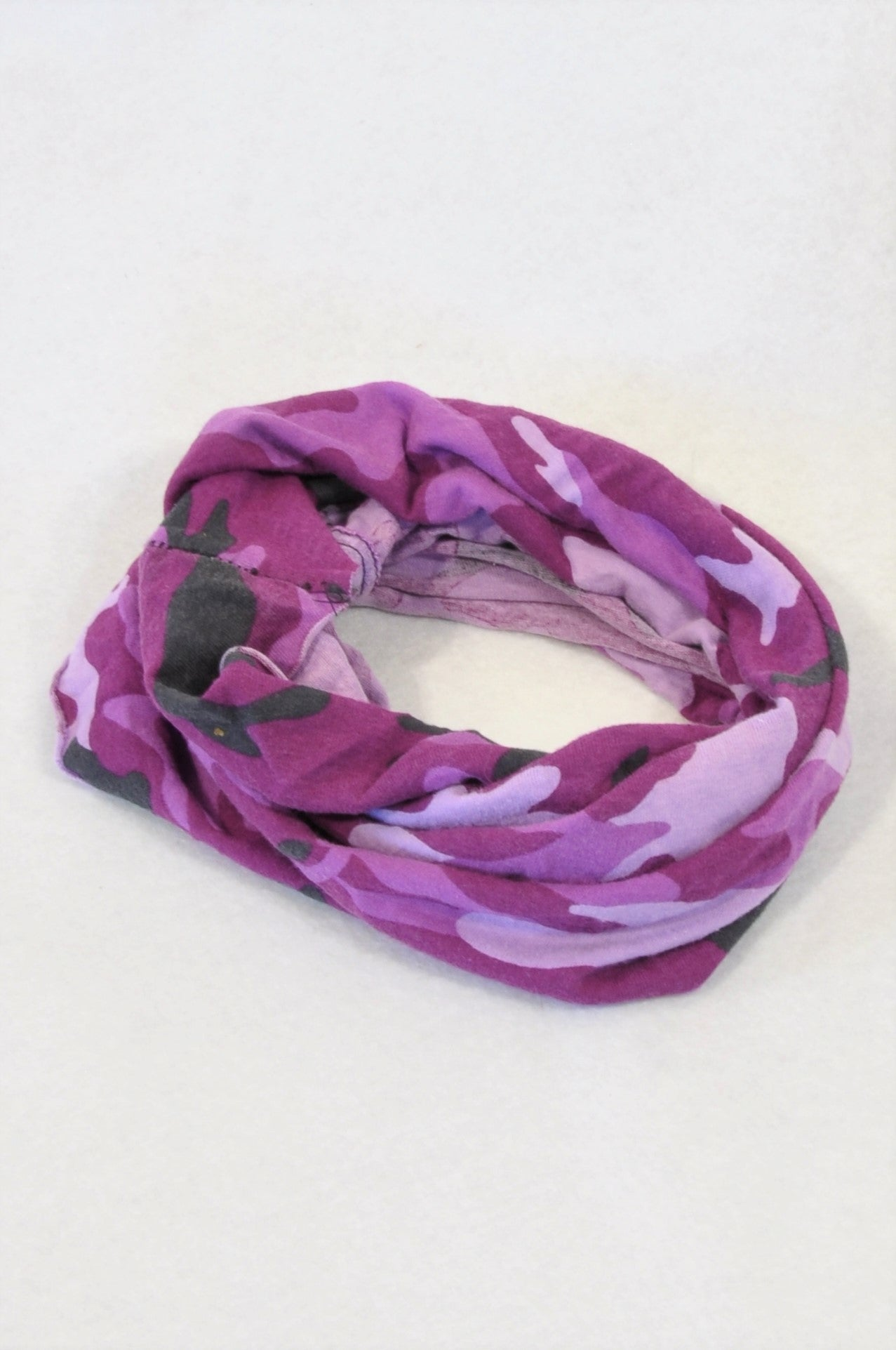 Unbranded Purple Camo Snood Scarf Unisex 2-6 years