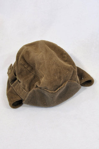 Woolworths Brown Corduroy Fleece Lined Hat Boys 1-3 years