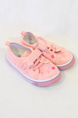 Ackermans Size 9 Pink Star Strap Shoes Girls 3-4 years