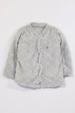 Woolworths Grey Quilted Fleece Jersey Unisex 6-12 months