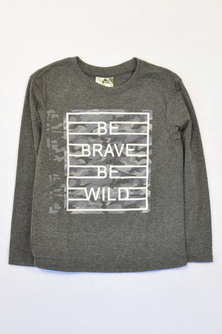 Ackermans Grey Be Brave T-shirt Boys 6-7 years