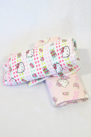 Sanrio 2 Pack Soft Pink Hello Kitty & Cupcake Receiving Blankets Girls N-B to 2 years