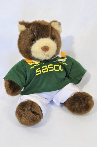 Unbranded Brown SA Rugby Bear Soft Toy Unisex 3-10 years