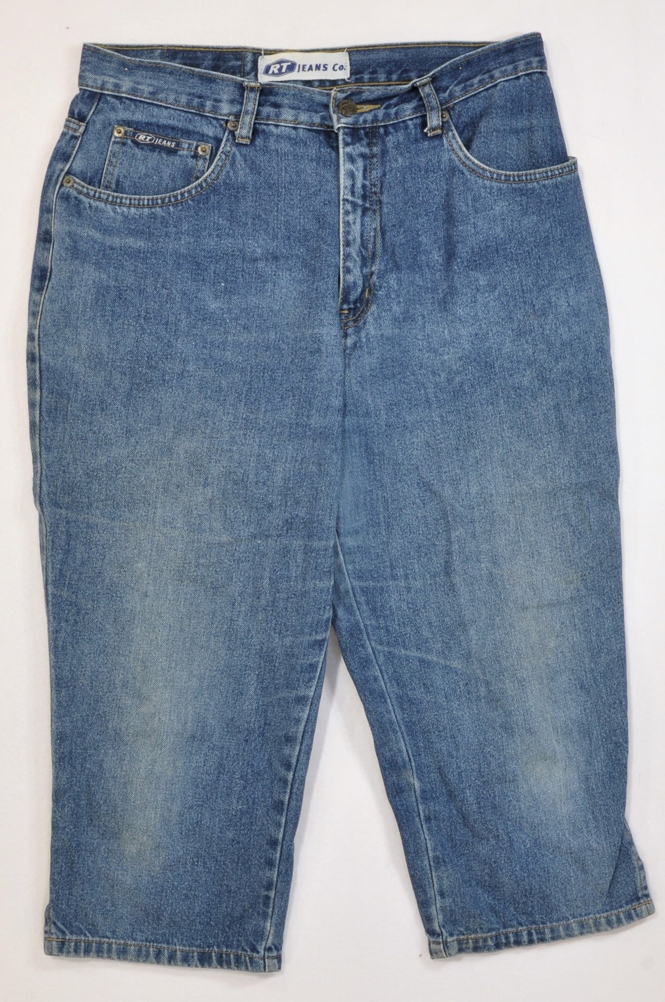 RT Jeans Stone Washed Three Quarter Jeans Women Size 38