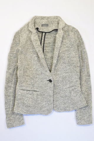 Yessica Cream & Black Tweed Blazer Women Size 34