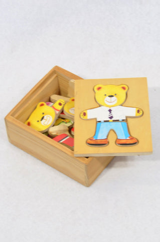 Unbranded 3 Piece Swap Out Wooden Bear Puzzle Unisex 1-3 years