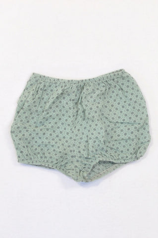 Just Chillin' Light Olive Ditsy Print Lightweight Bloomers Girls 12-18 months