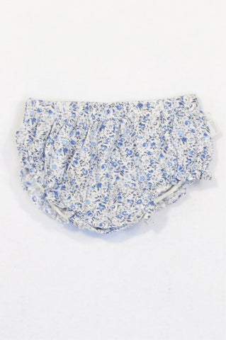 Lapin House Dark & Light Blue Lightweight Floral Bloomers Girls 6-12 months