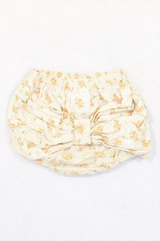 Annapetat Beige Orange Rose Big Rear Bow Bloomers Girls 3-6 months