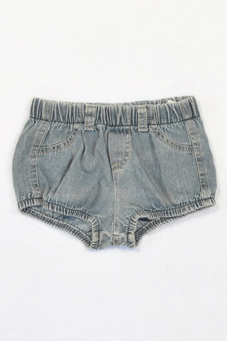 Sticky Fudge Dark Stone Washed Denim Bloomers Girls 12-18 months