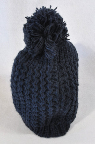 Mr. Price Navy Cable Knit Pom Pom Beanie Girls 5-7 years