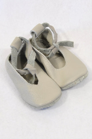 Unbranded Size 2 Stone Ankle Strap Leather Shoes Girls 6-9 months