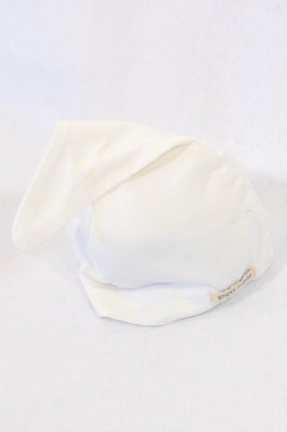 Sticky Fudge White Sleepy Head Beanie Unisex 3-6 months