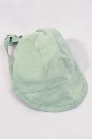 Unbranded Dusty Green Bonnet Hat Girls 9-12 months
