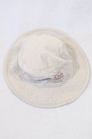 Sticky Fudge Beige Chin Tie Hat Unisex 1-2 years