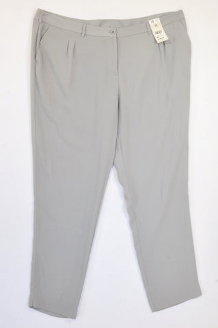 Woolworths Grey Lightweight Cropped Pants Women Size 18