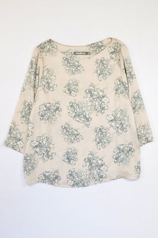 Studio.w Pink Sateen Flower Blouse Women Size 16
